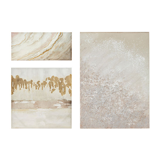 Madison Park Glistening Dream 3-pc. Canvas Art