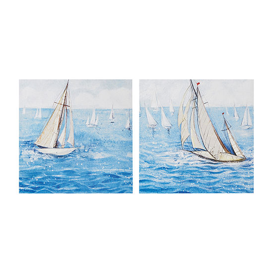 Madison Park Sailing Regatta 2-pc. Canvas Art