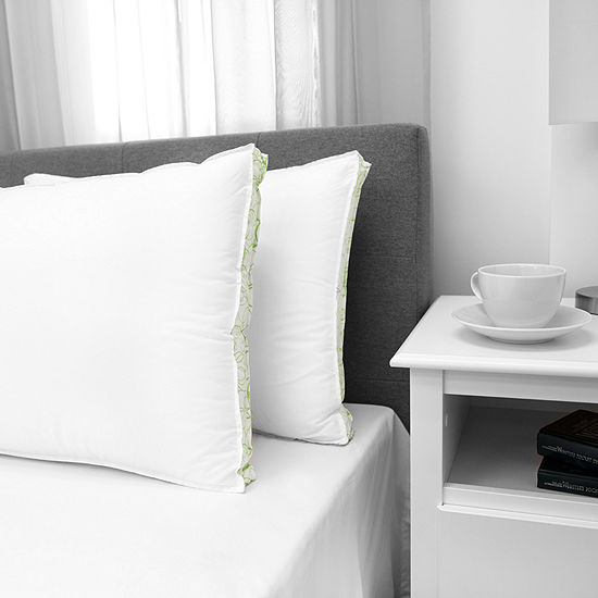 EcoPedic Down Alternative Firm Density With Cotton Cover Pillow 2-Pack