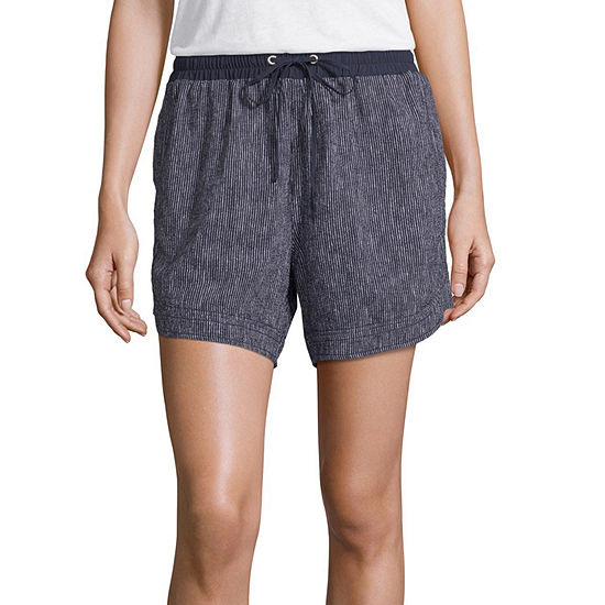 Liz Claiborne Womens High Waisted Pull-On Short
