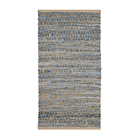 Safavieh Hallam Striped Rug. One Size . Blue