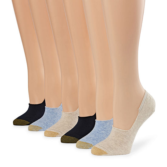 Gold Toe 6 Pair Knit Liner Socks Womens