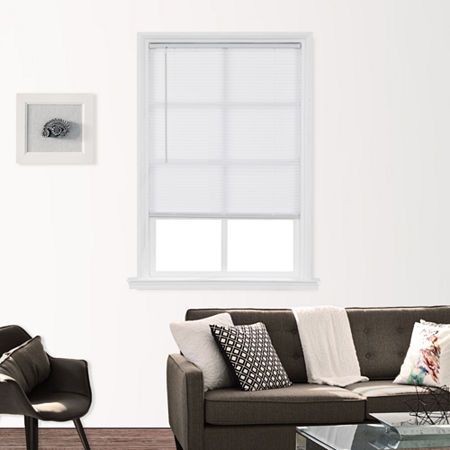 """1"""" Cut-to-Width Light-Filtering Cordless Mini Blinds. One Size . White"""