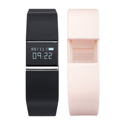 Ifitness Activity Smart Watch with Interchangeable Band - Silver/Black & Blush