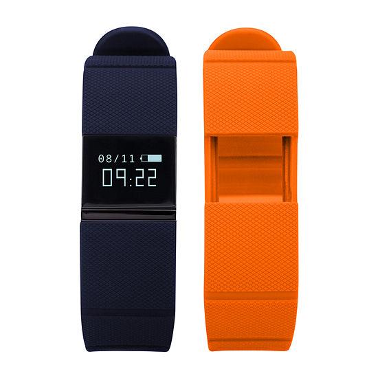 Ifitness Activity Smart Watch with Interchangeable Band - Black/Navy & Orange