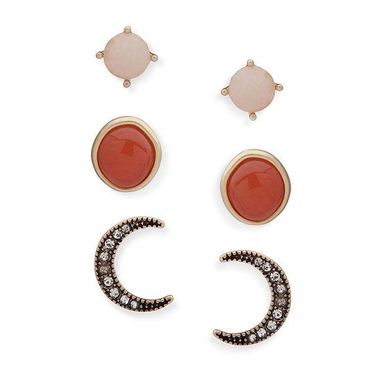 Chaps 3 Pair Drop Earrings