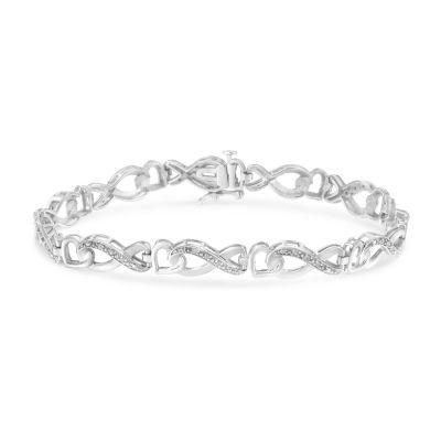1/5 CT. T.W. Genuine White Diamond Sterling Silver 7 Inch Tennis Bracelet