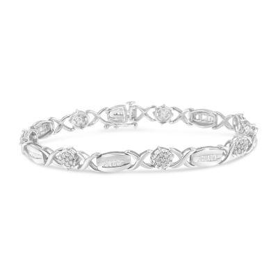 1 CT. T.W. Genuine White Diamond 7 Inch Tennis Bracelet