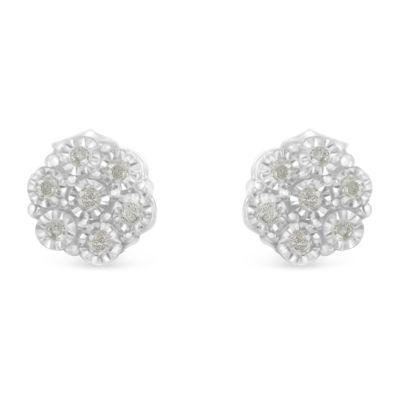 1/6 CT. T.W. Genuine White Diamond 16mm Stud Earrings