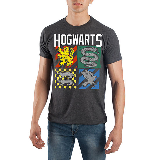 Mens Crew Neck Short Sleeve Harry Potter Graphic T Shirt
