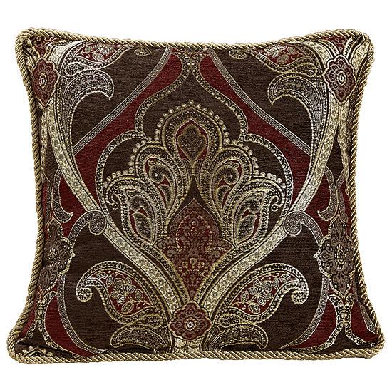 Croscill Classics Bradney 18x18 Square Throw Pillow