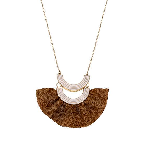 Bijoux Bar 36 Inch Curb Pendant Necklace