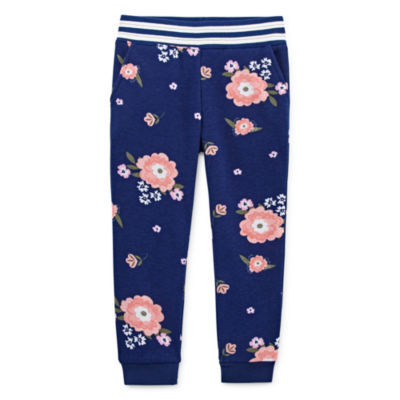 Okie Dokie Girls Cuffed Jogger Pant - Toddler