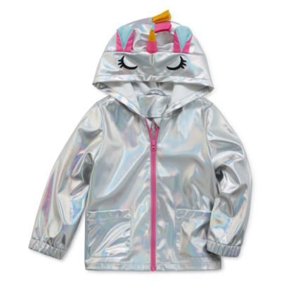 Okie Dokie Girls Lightweight Raincoat-Toddler