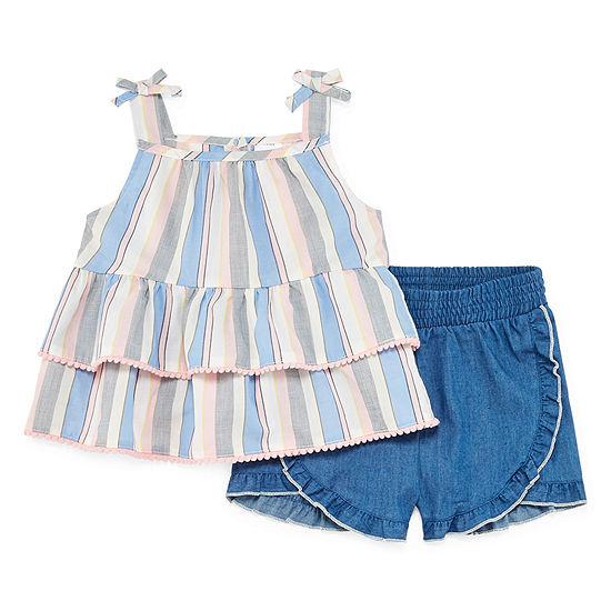 Okie Dokie Okie Dokie 2 Pc Short Set Toddler Girls