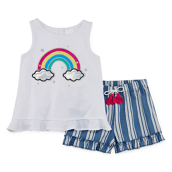 Okie Dokie Girls 2-pc. Short Set Toddler