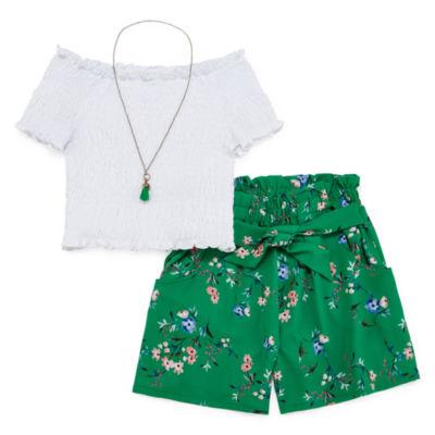 Knit Works 2-pc. Short Set Toddler Girls