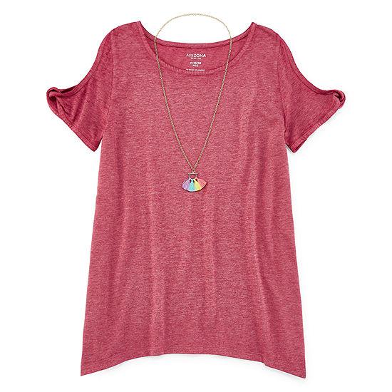Arizona Girls Scoop Neck Short Sleeve T-Shirt