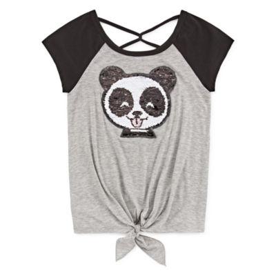 Knit Works Sequin Tees Girls Scoop Neck Short Sleeve Graphic T-Shirt Preschool / Big Kid