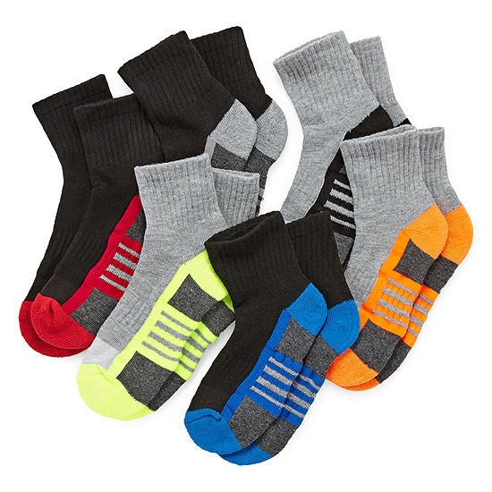 Xersion Little Kid / Big Kid Boys 6 Pair Quarter Socks