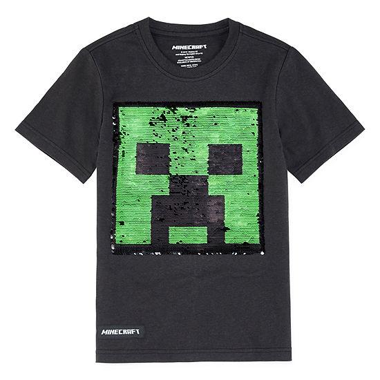 Boys Crew Neck Short Sleeve Minecraft Graphic T Shirt Big Kid
