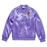 Deals on Disney Aladdin Girls Lightweight Bomber Jacket Preschool