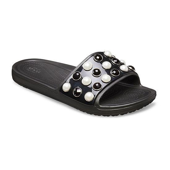 Crocs Womens Sloane Pearl Slide Sandals