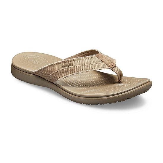 Crocs Mens Santa Cruz Canvas Flip-Flops