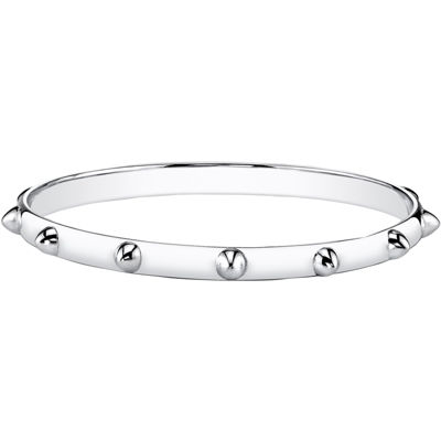 DOWNTOWN BY LANA Silver-Tone Spike Bangle