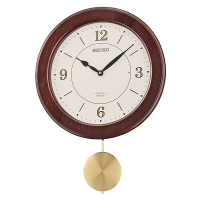 Seiko® Musical Wall Clock With Pendulum And 12 HiFi Melodies And Chime Qxm345blh