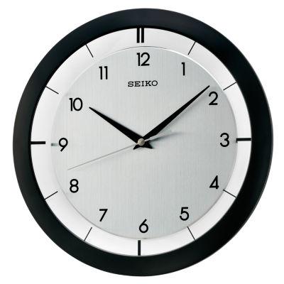 Seiko® Wall Clock With Brushed Metal Dial Qxa520klh