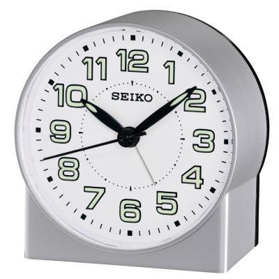 Seiko White Alarm Clock-Qhe084slh
