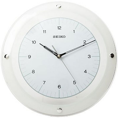 Seiko® Wall Clock with Floating White Dial
