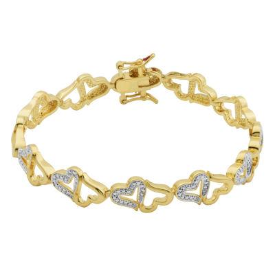 Sparkle Allure White Heart Tennis Bracelet
