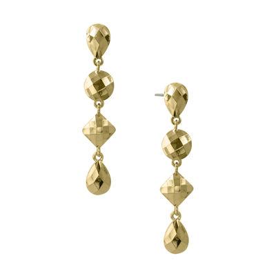 1928® Jewelry Gold-Tone Linear Droplet Earrings