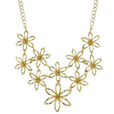 1928® Jewelry Gold-Tone Flower Bib Necklace