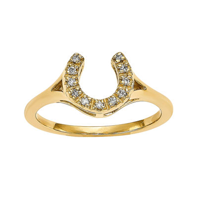 Diamond Accent 14K Yellow Gold Ring