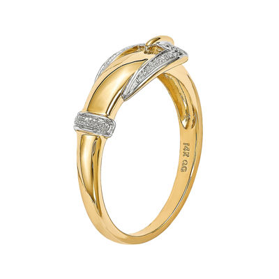 Diamond Accent 14K Yellow Gold Ring