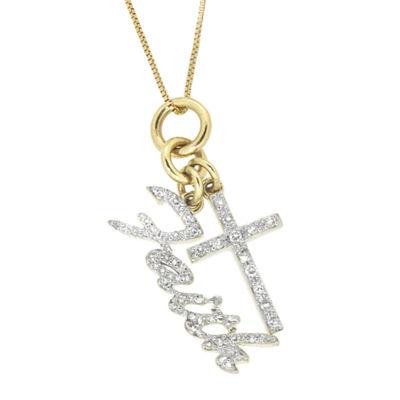 1/6 CT. T.W. Diamond 10K Yellow Gold Pendant