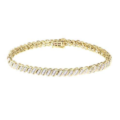 Diamond In 10K Yellow Gold Bracelet