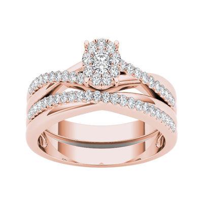 1/4 CT. T.W. Diamond 10K Rose Gold Engagement Ring