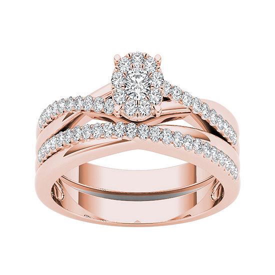 1 4 Ct Tw Diamond 10k Rose Gold Engagement Ring