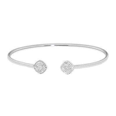 Diamond In Sterling Silver Bangle Bracelet