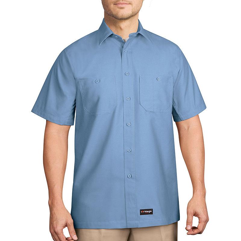 image of Men-s Wrangler Short-Sleeve Work Shirt-pp5007230069