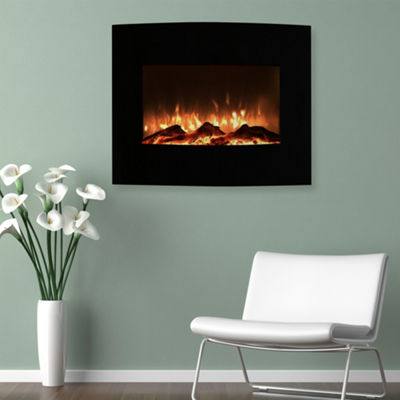 "26"" Curved Wall Mount Electric Fireplace"