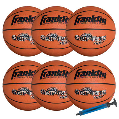 Franklin Sports Official-Size GRIP-RITE 100 Team Basketball Set