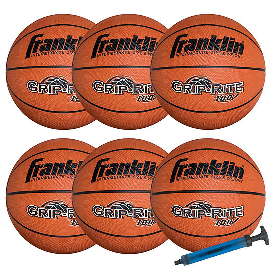 Franklin Sports Official Size Grip Rite 100 Team Basketball Set