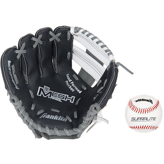 "Franklin Sports 9.5"" Teeball Meshtek Glove and Ball Set"