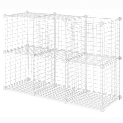 Whitmor Black Wire Set of 6 Storage Cubes