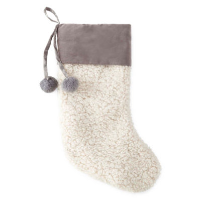 North Pole Trading Co. Nordic Frost Sherpa Christmas Stocking